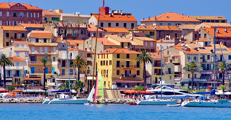 Port in Calvi, a gem on Corsica, France. Photo via Flickr:pascal POGGI