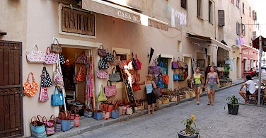 Shopping in L'lle Rousse on Corsica, part of France. Photo via Flickr:sylvain CITERNE