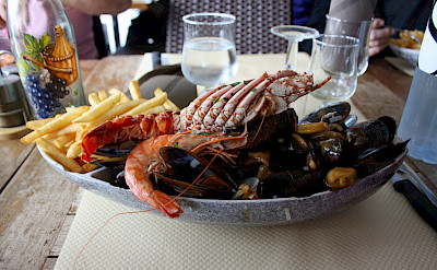 Seafood in Saint Florent on Corsica Island in the Mediterranean. Photo via Flickr:michimaya