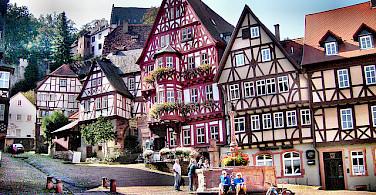Bavarian architecture in Miltenberg, Germany. Photo via Flickr:ylimazovunc