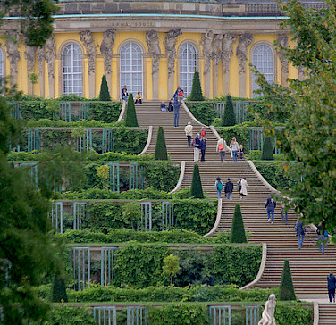 Sanssouci Palace and Gardens in Potsdam, Germany. Photo via Flickr:extranoise