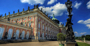 Neue Palais, Sanssouci in Potsdam, Germany. Photo via Wikimedia Commons:Wolfgang Staudt