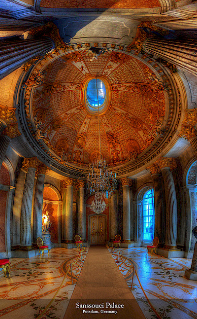 Sanssouci Palace in Potsdam, Germany. Photo via Flickr:Harry Pherson