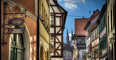 Bamberg, a UNESCO World Heritage Site, in Upper Franconia, Germany. Photo via Flickr:magnetismus