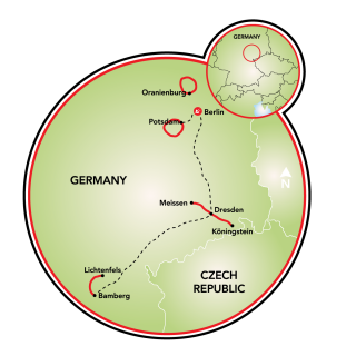 Berlin to Bamberg Map
