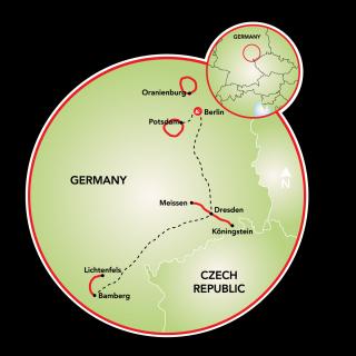 Berlin to Bamberg Map