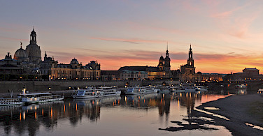 Sunset over Dresden, Germany. Photo via Flickr:Harshil Shah