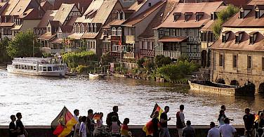 Soccer fans returning in Bamberg, the 'little Venice' of Germany. Photo via Flickr:qolepejorian