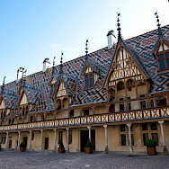 Hospices de Beaune, a magnificent building in Beaune, Burgundy, France. Flickr:Allan Harris