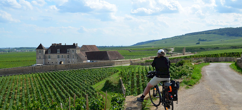 Sightseeing en route. Burgundy, France.