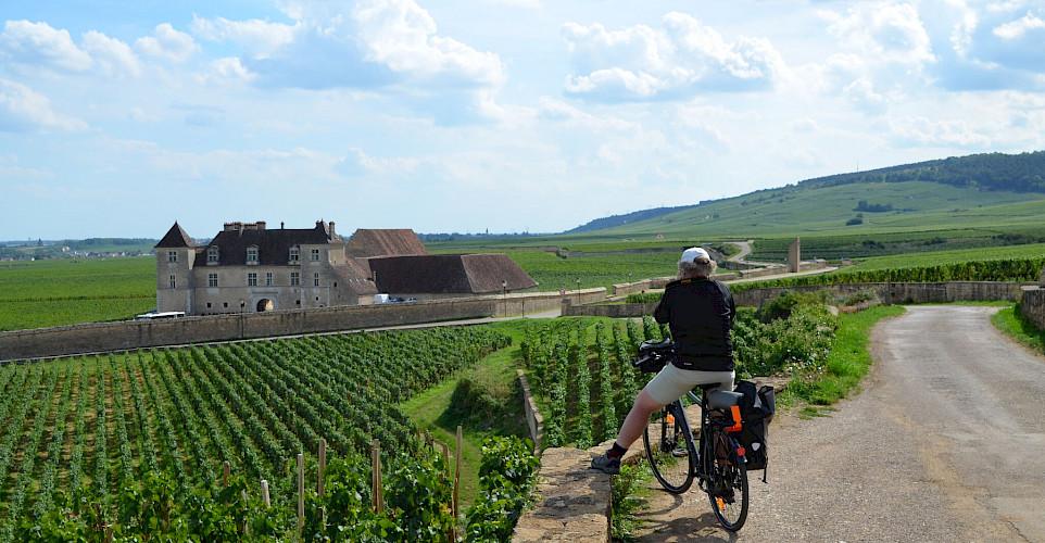 Sightseeing en route. Burgundy, France.