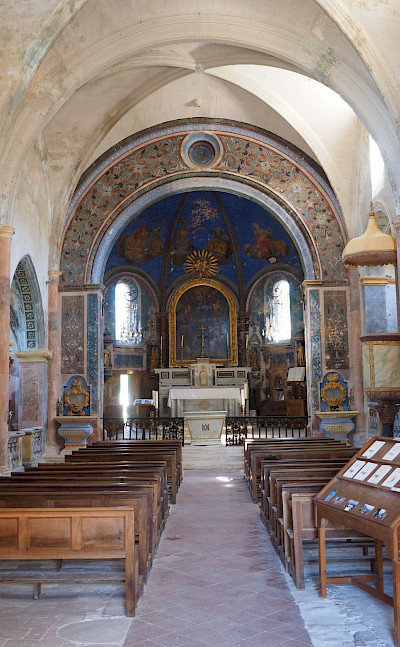 Old churches to explore in Burgundy, France.