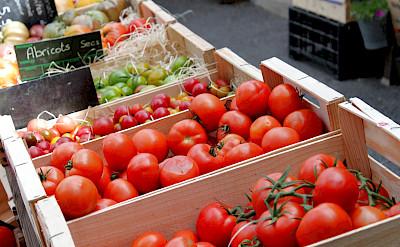 Farmers Market in Burgundy, France.