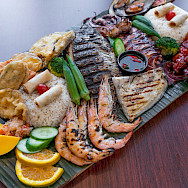Grilled seafood platter in Burgundy, France. Photo via TO