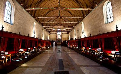 Inside the Hospices de Beaune in Beaune, Burgundy, France. Flickr:Allan Harris