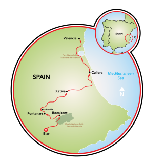 Map Of Spain Valencia Region.Valencia Region Of Colors And Contrasts Spain Tripsite