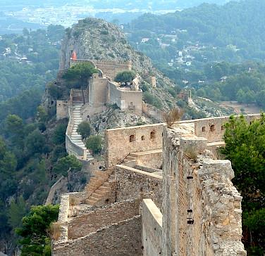 Chateau en Espagne in Xativa, Spain. Photo via Flickr:Olivier Bacquet