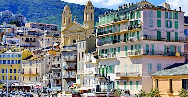 St Jean Baptiste Cathedral in Bastia, Corsica, France. Photo via Flickr:Pascal POGGI