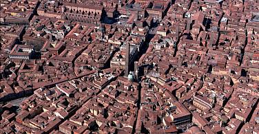 Bologna's streetplan, Emilia-Romagna, Italy.