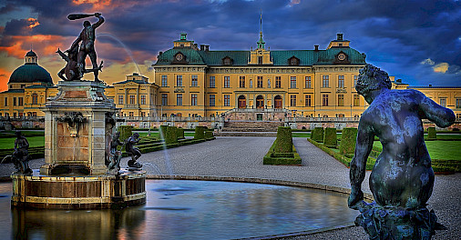 Drottningholm Palace built on Lovön Island is one of Sweden's Royal Residences. Flickr:Tobias Lindman
