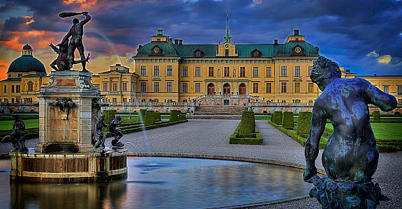 Drottningholm Palace built on Lovön Island is one of Sweden's Royal Residences. Flickr:Tobias Lindman