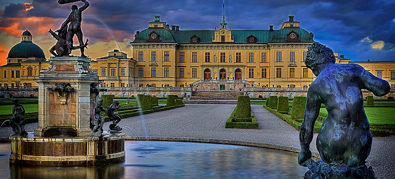 Drottningholm Palace built on Lovön Island is one of Sweden's Royal Residences. Photo via Flickr:Tobias Lindman