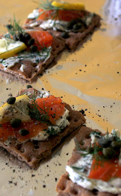 <i>Gravlax</i> is a traditional treat in Sweden. Flickr:Charles Haynes
