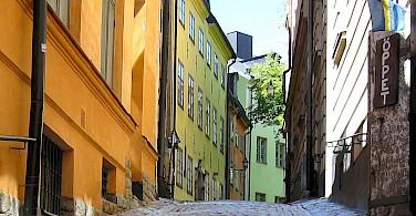 Cobblestone streets in Gamla Stan, Old Town, Stockholm, Sweden. Photo via Flickr:Olof Senestam
