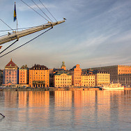 Old Town from the water in Stockholm, Sweden. Photo via Flickr:Michael Caven