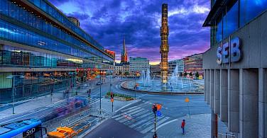 City life in Stockholm, Sweden. Photo via Flickr:Tobias Lindman