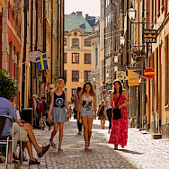 Bike break in Stockholm, Sweden. Photo via Flickr:Pedro Szekely