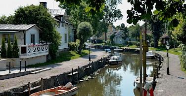 Canal in Trosa, Sweden. Photo via Flickr:webbgun