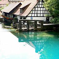 Houses on the water in Blaubeuren, Germany. Photo via Flickr:dierk schaefer