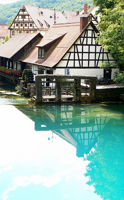 Houses on the water in Blaubeuren, Germany. Photo via Flickr:dierk schaefer