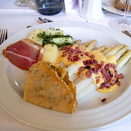 Spargel, or white asparagus, is a favorite in Ehingen, Germany. Photo via Flickr:Jun Seita