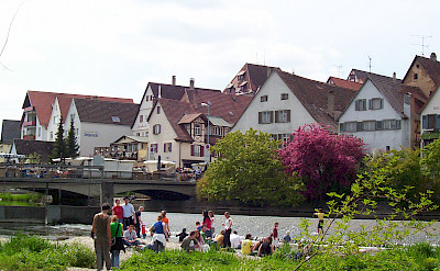 Along the Danube at the Flohmarkt in Riedlingen, Germany. Photo via Wikimedia Commons:Public Domain