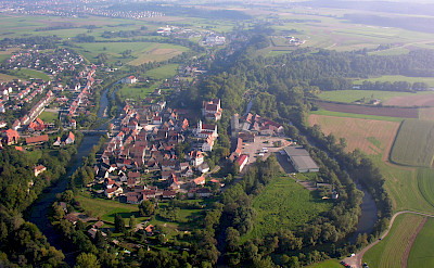 Aerial of Scheer in Baden-Württemberg, Germany. Photo via Wikimidia Commons:Simisa