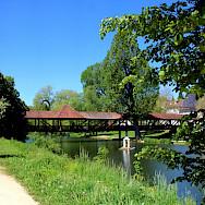 Covered bridge in Tuttlingen, Germany. Photo via Flickr:Hartmut Hoffmann
