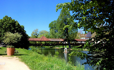 Covered bridge in Tuttlingen, Germany. Photo via Flickr:Hartmut Hoffmann
