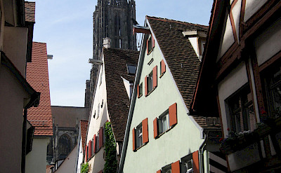 Ulm is famous for the church with the tallest steeple in the world (the Gothic <i>Ulm Minster</i>). Photo via Wikimedia Commons:Candidus