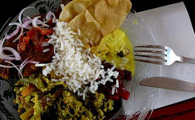 Tasty Indian food in Alleppey, Kerala, India. Photo via Flickr:Jennifer