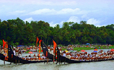 Aranmula Snake Boat Race in Aranmula, Kerala, India. Photo via Flickr:Arun Sinha