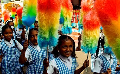 Indian girls laughing in Kochi, Kerala, India. Photo via Flickr:VnGrijl