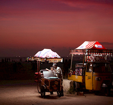 Uncle John's Ice Cream truck in Kerala, India. Photo via Flickr:Vinoth Chandar
