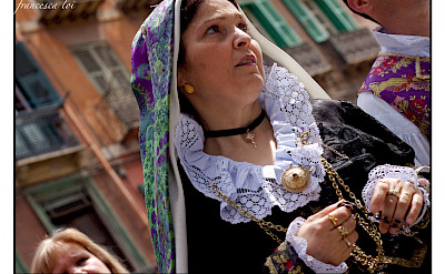 Local costumes & traditions mark the Feast of Sant'Efis in Cagliari, Sardinia, Italy. Photo via Flickr:usadifranci