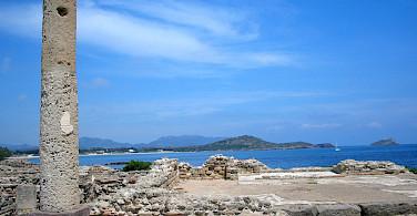 Roman ruins dominate Nora, Sardinia, Italy. Photo via Flickr:Chris