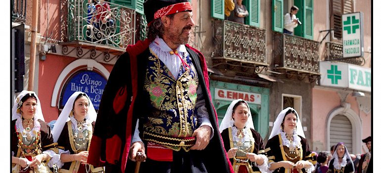 Feast of Sant'Efis in Cagliari, Sardinia, Italy. Photo via Flickr:usadifranci