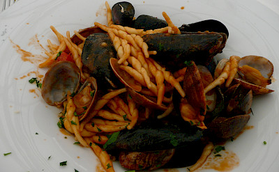 Seafood pasta in Sardinia. Photo via Flickr:Annie and Andrew