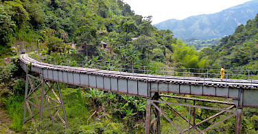 Railroad bridge in Amaga, Colombia.
