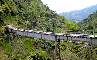 Railroad bridge in Amaga, Colombia.